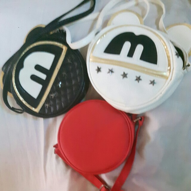 3 cute round sling bags for price of 1