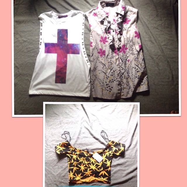 3 for Php200 Blouse & crop top