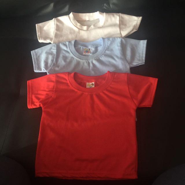 3x Plain T-shirts