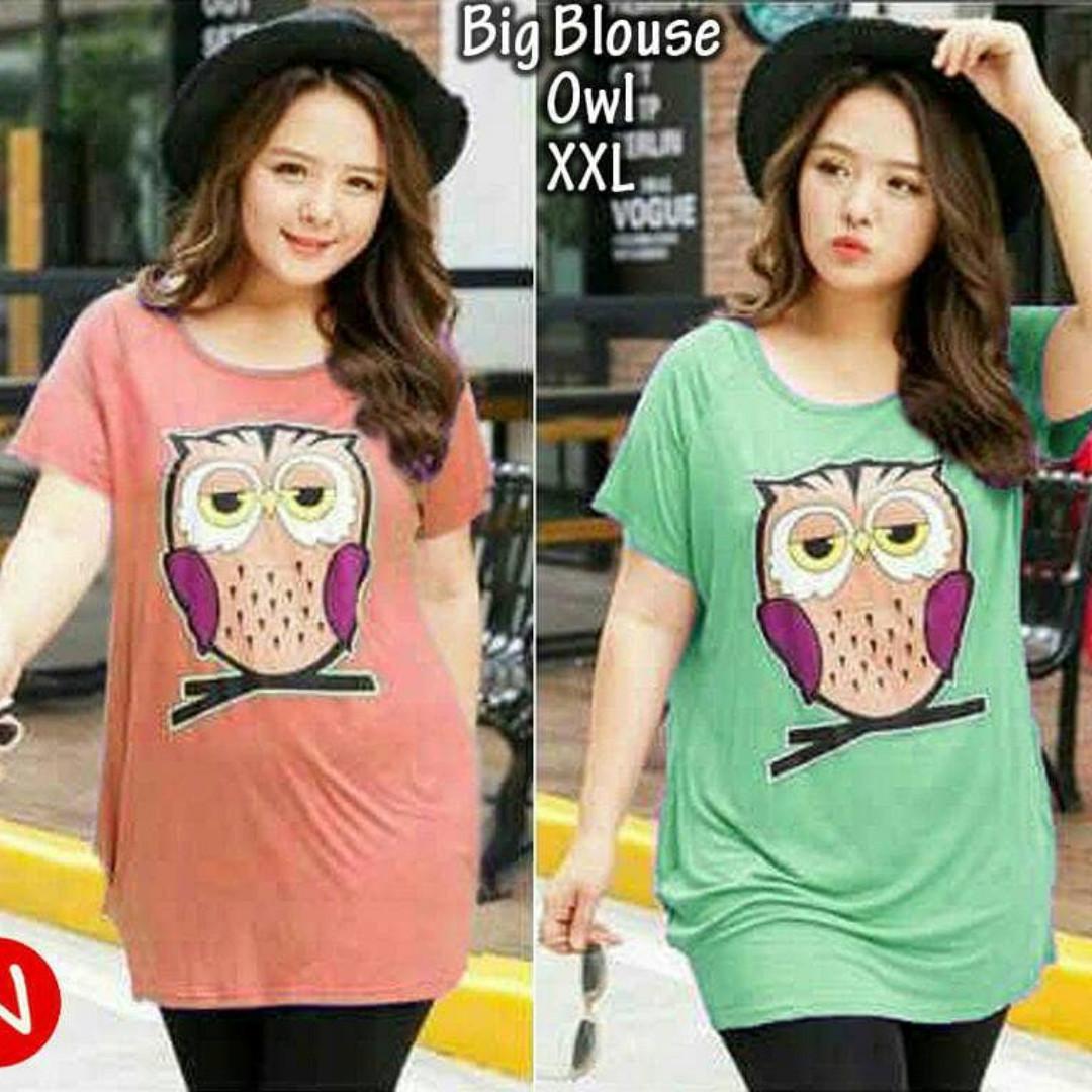 43518 long big blouse owl/atasan wanita bigsize/blouse wanita jumbo