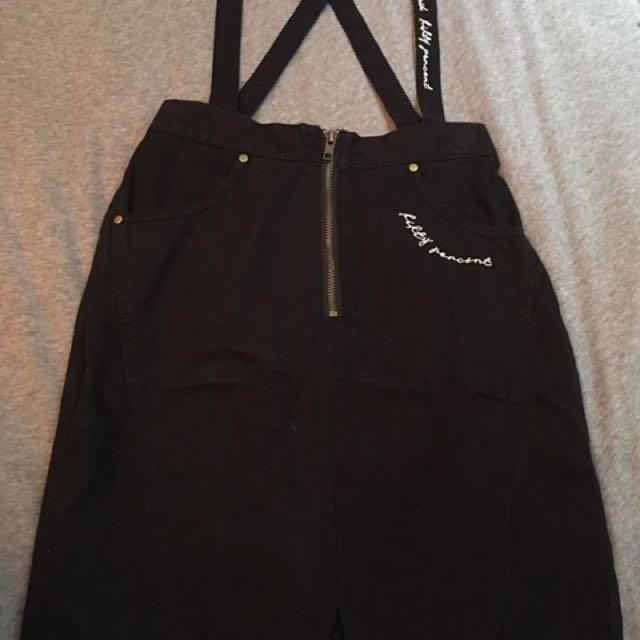 50% 字母素色修身吊帶裙 尺寸s