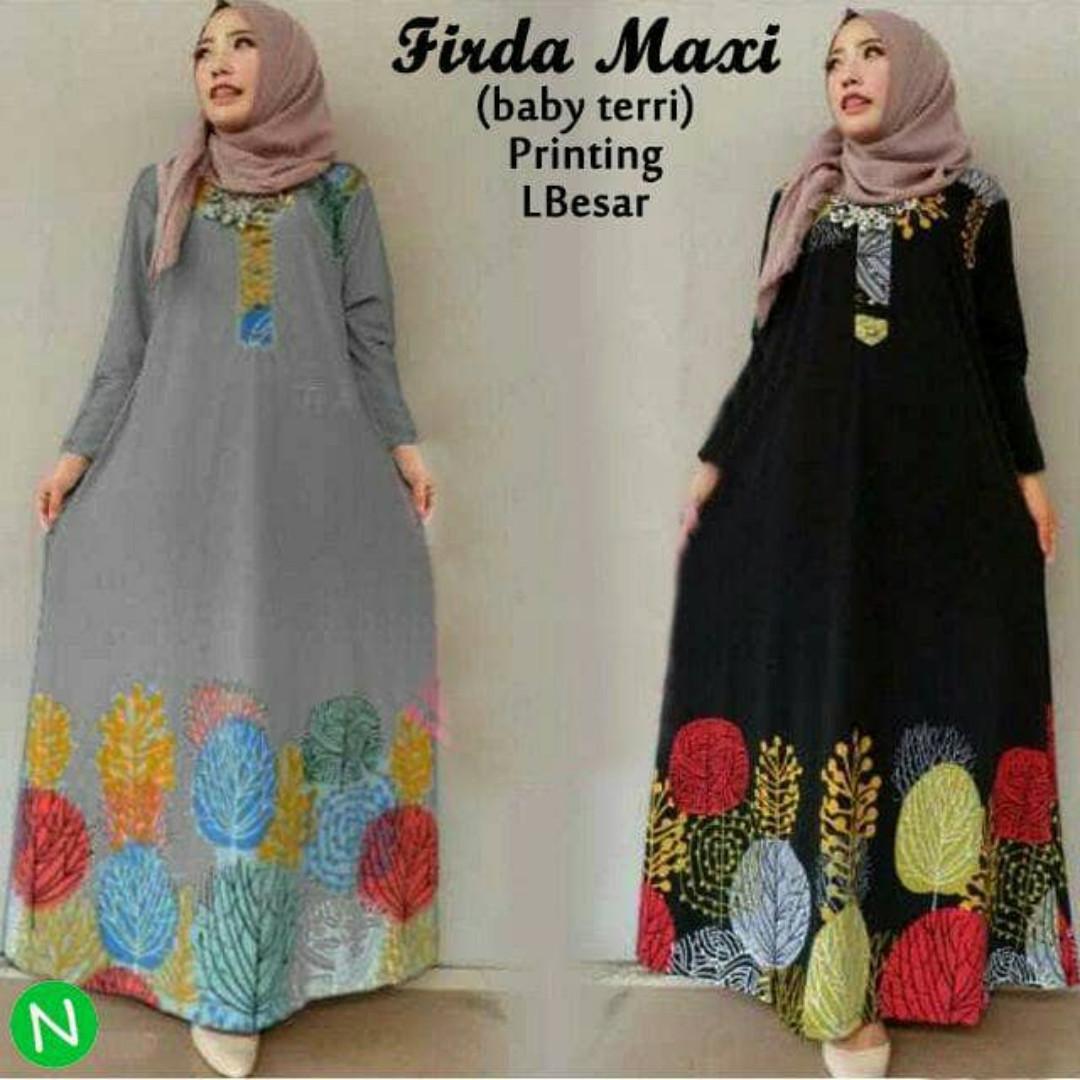 55650 firda maxi/maxi dress/dress muslim murah/baju muslim grosiran