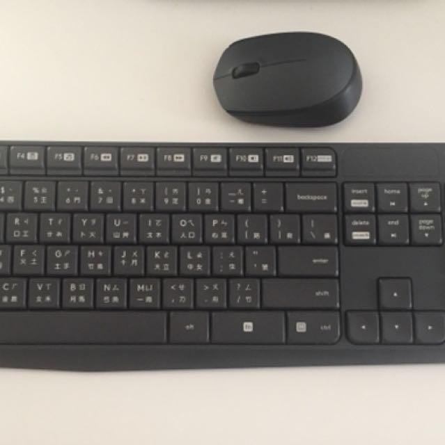 無線鍵盤+滑鼠,送筆記本電腦支架