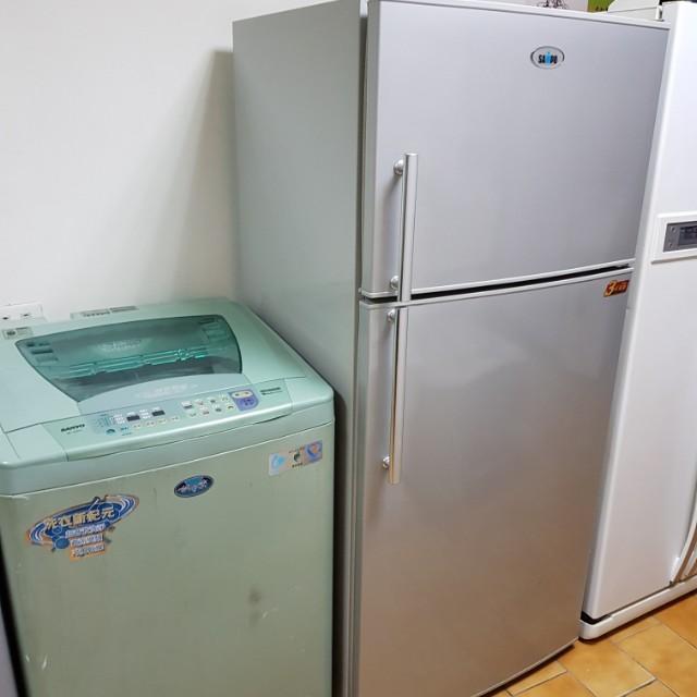 聲寶雙門冰箱