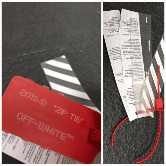 dc80b67ed060    25   Off White Product bag and Zip tie tags on Carousell