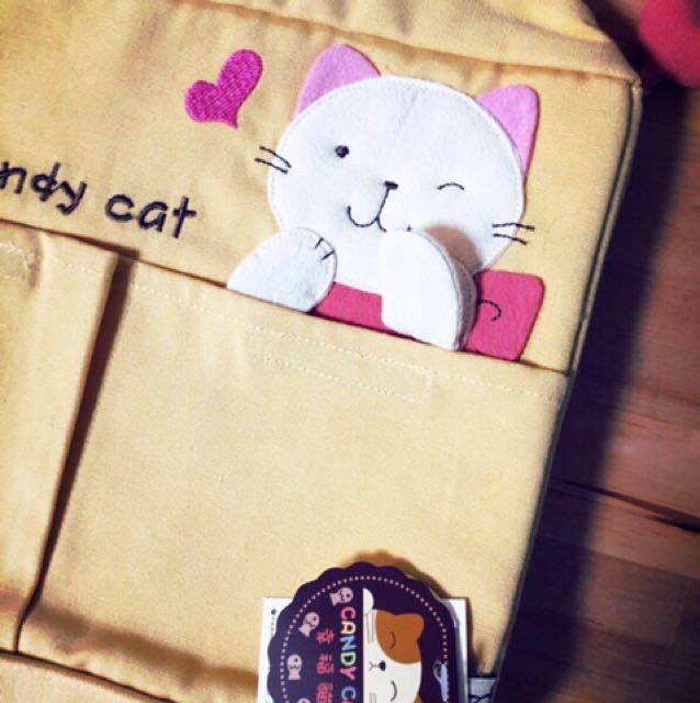 日本人氣貓咪手染布包 寵物包 收納包