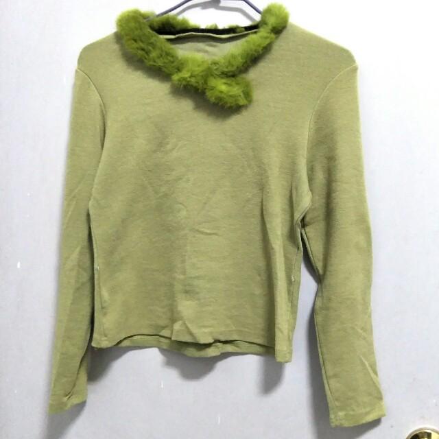 #好物任你換 毛領綠色上衣 可換物 可贈