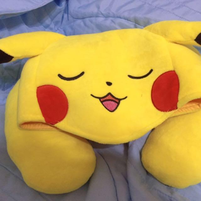 皮卡丘 頸枕 枕頭 寶可夢