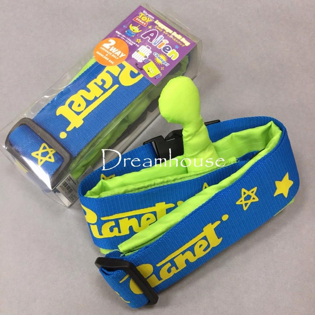 日本帶回 玩具總動員 三眼怪 行李箱 登機箱 行李束帶 購物袋 斜背 側背包 環保袋 兩用