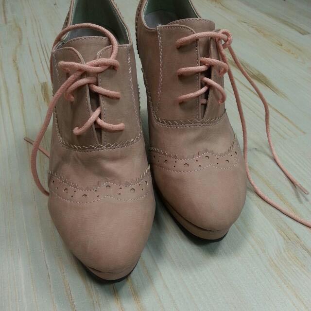 日本製 淡粉色高跟鞋 M