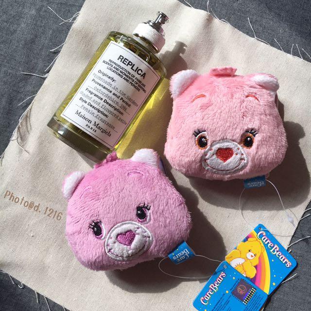 出口美國🐻老品 Care Bears 彩虹熊 零錢包 收納盒 收納包 耳機包 古着