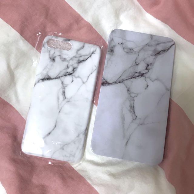 大理石亮面手機殼 iPhone 7 Plus iPhone 8 Plus