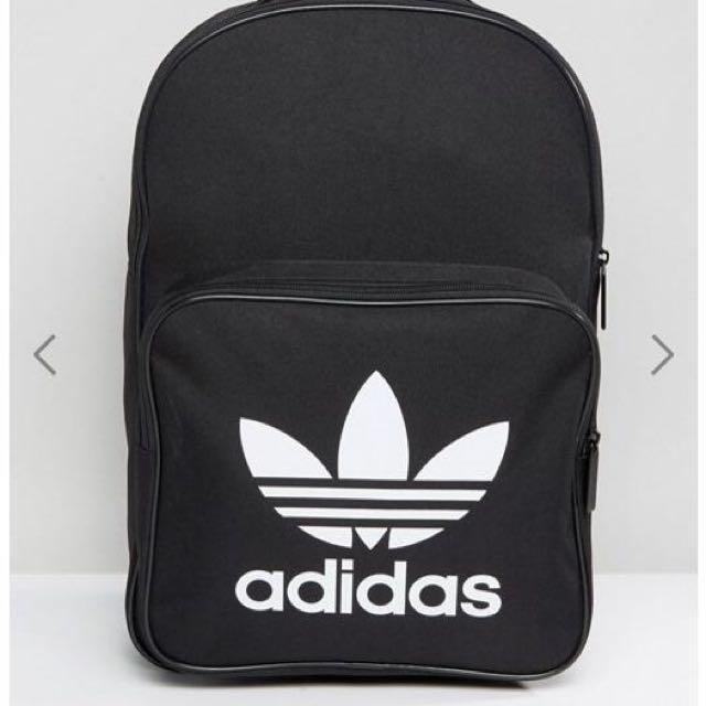 【Adidas】三葉標基本款黑色後背包