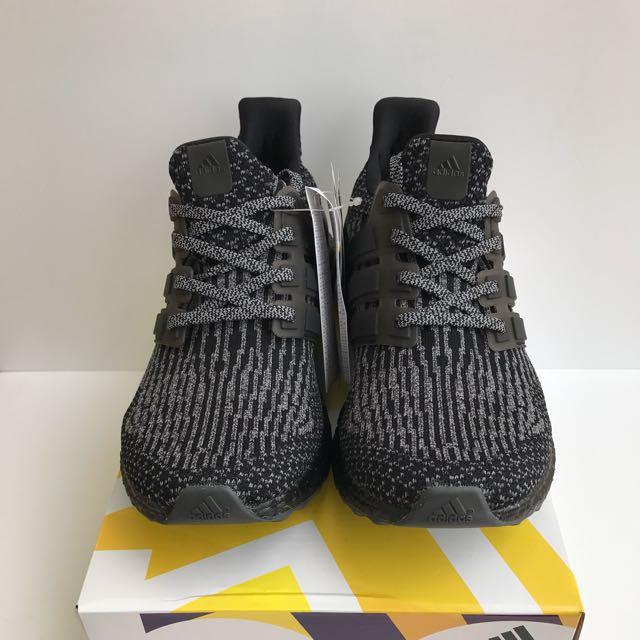 Adidas Ultra Boost 3.0 Triple Black & Silver Size Mens US 7.5 BRAND NEW
