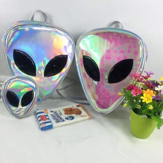 Alien Hologram Backpack & Pouch Set