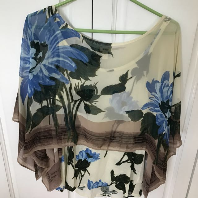 Anthropologie Sheer Top w/ Tank