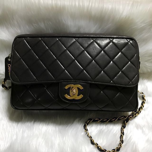 Authentic Chanel Black Camera Bag with CC Flap *SELLING LOW THIS WEEK!