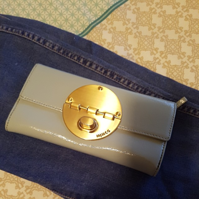 Baby blue/gold mimco wallet