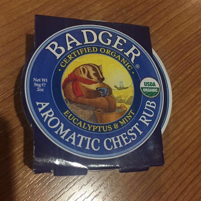 Badger aromatic chest rub