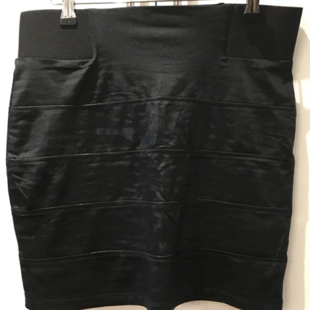 Black tiger print F21 skirt size L