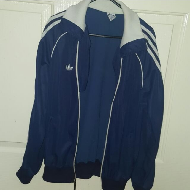 Blue Adidas Nylon Jacket Sz 10-12