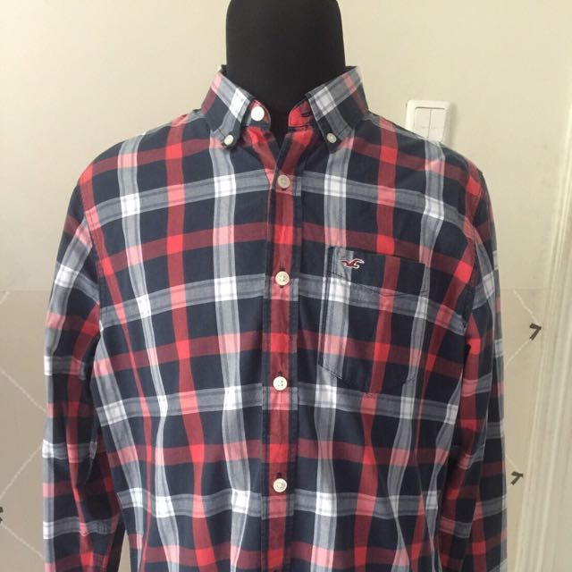Blue and Red Checkered Shirt