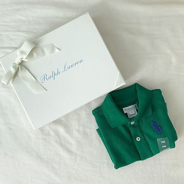 b45fe65e7d80 BN Ralph Lauren Baby Boy Athletic Green Polo Tee 3mths! With Gift Box! on  Carousell