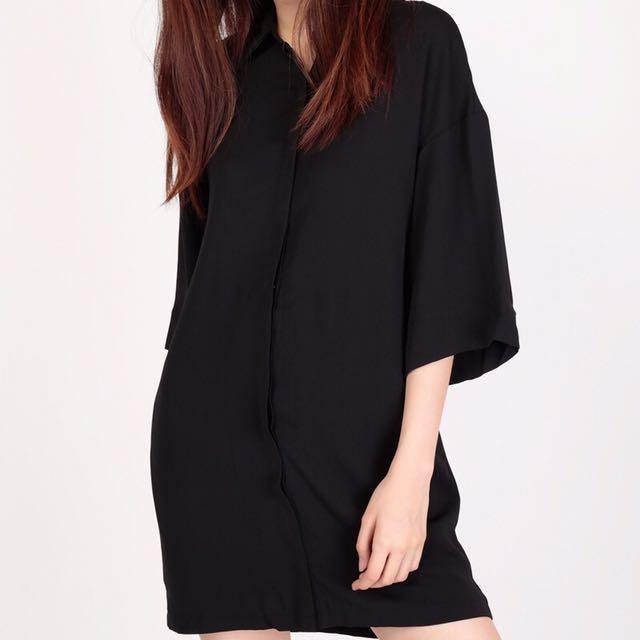 BNIP AForArcade Ease Down The Road Shirt Dress in Black (AFA)