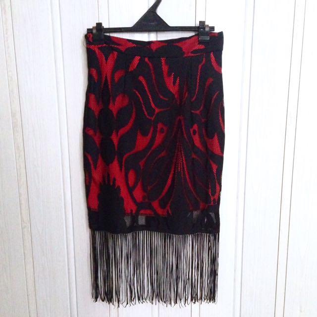 Boho inspired skirt (back zip)