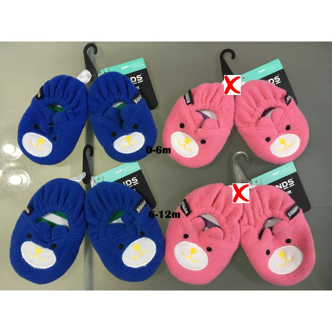 Bonds Animal Slippers for 0-6m, 6-12m