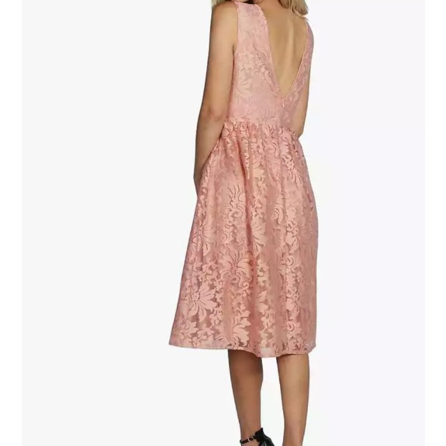 Boohoo Blush Pink Organza Dress