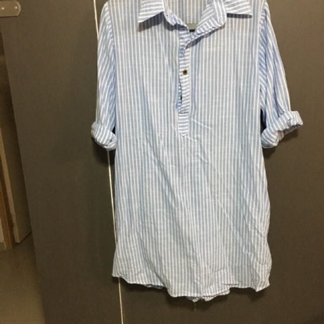Brand new over size stripe dress