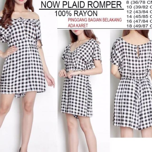 Branded Now Plaid Romper