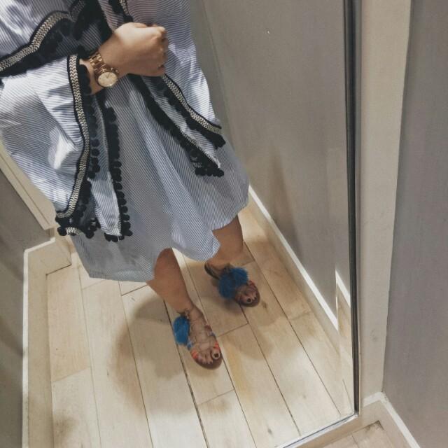 Brash Pompom Sandals