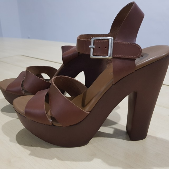 Brown High Heel Sandal