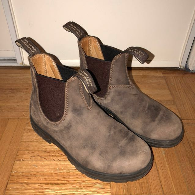 Brown leather Blundstones