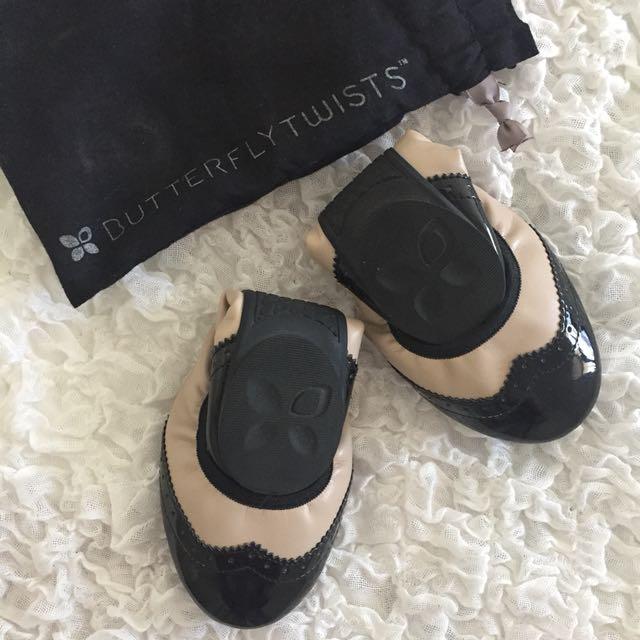 Butterfly Twists Folded Ballerina Shoes