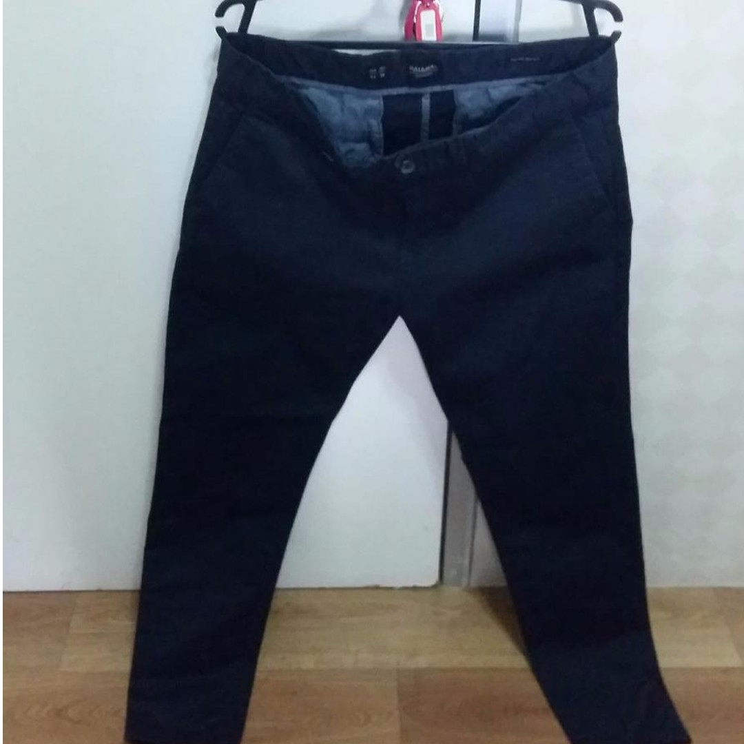 Celana Pull Bear Smart Skinny Navy Blue size 34