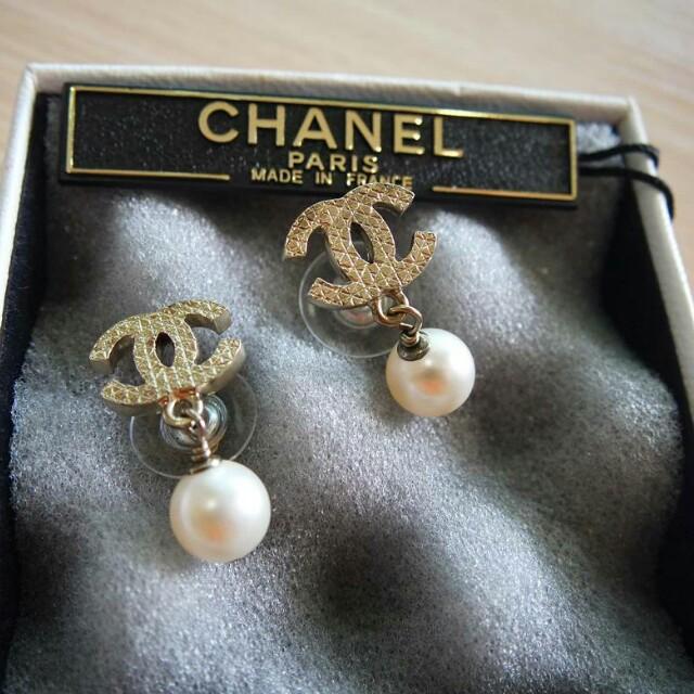 Chanel Authentic earrings original pearl anting mutiara