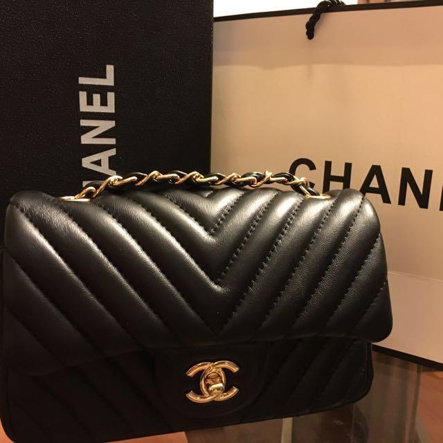 Chanel coco 20cm 小羊皮