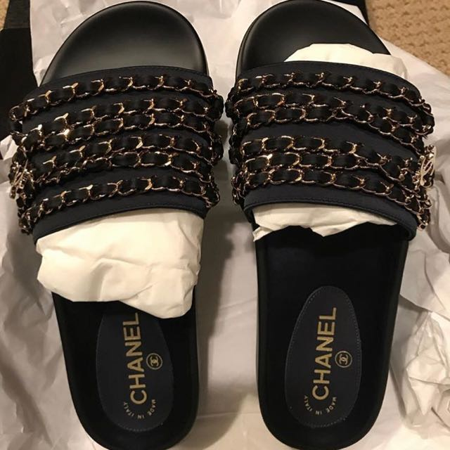 Chanel Nylon Chain Flat Sandal