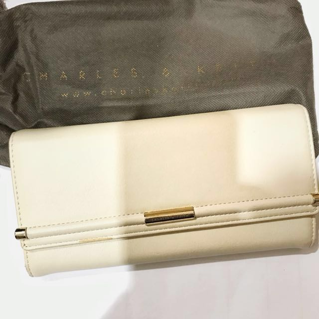 Charles and keith nude wallet