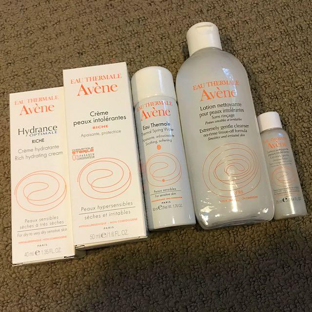 Complete AVÉNE range for you! Bargain!!! Sensitive skin products