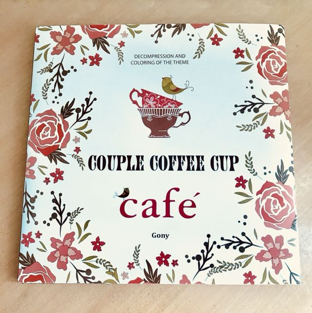 Couple Coffee Cup Adult Coloring Book Books Magazines Others On