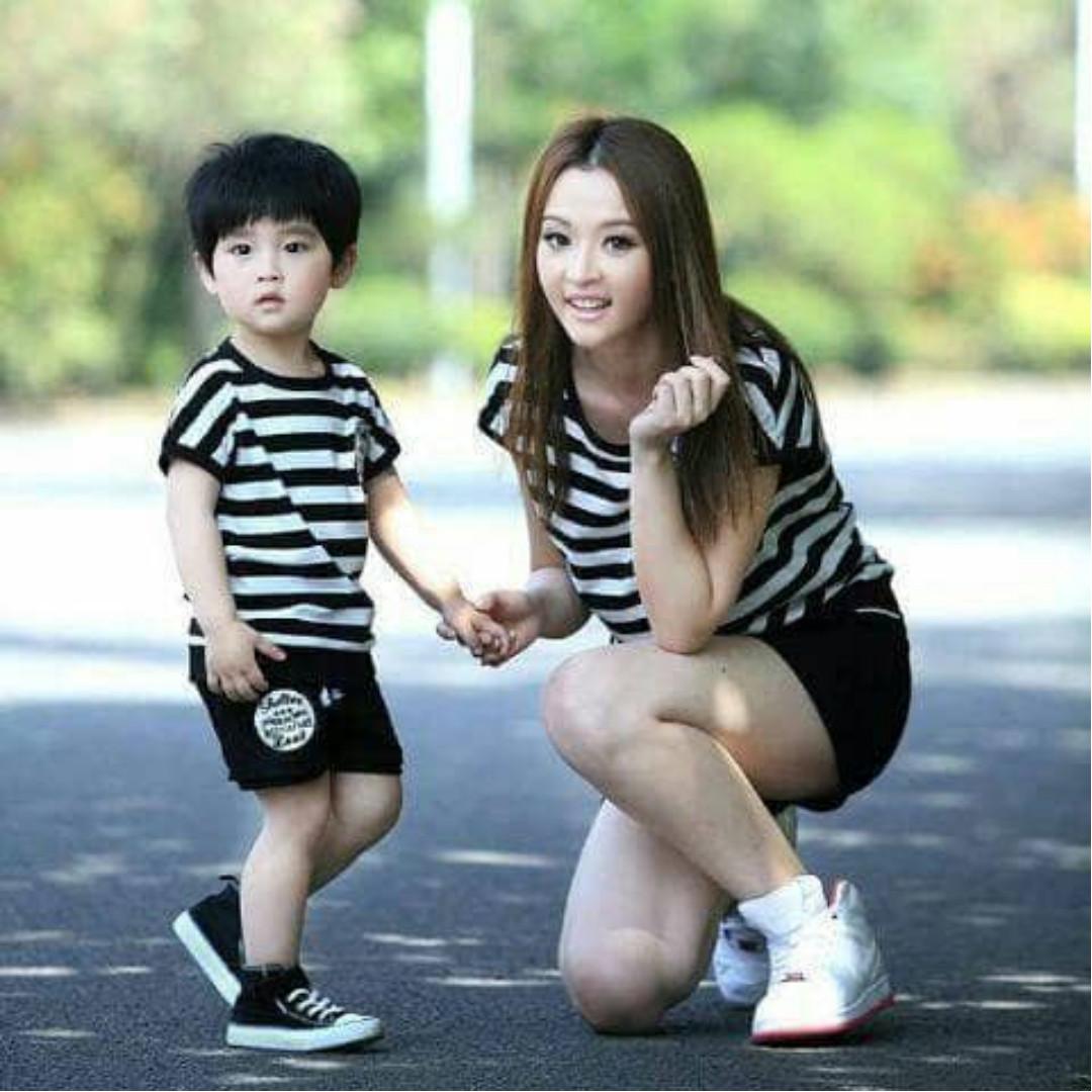 Couple stelan Mom kid coolboy/couple ibu dan anak/baju stelan murah