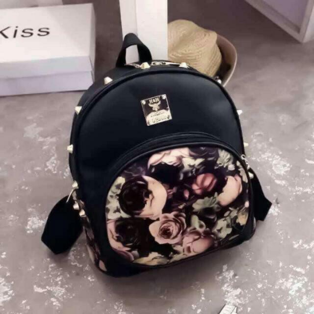 Cute Korean Bag+ Knitted Long Sleeve Blouse