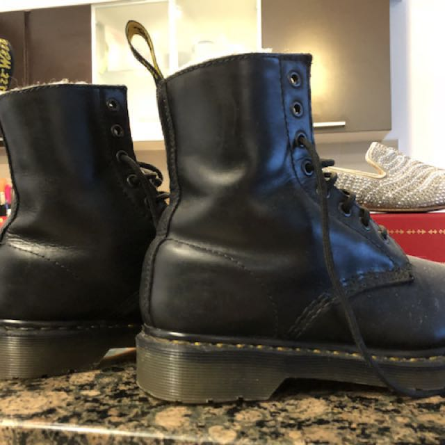 Dr Martens boots-Fur lines Serena Wyoming