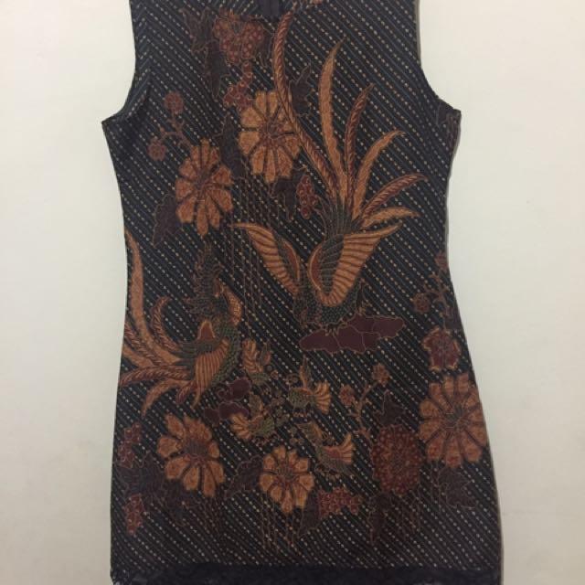 Dress Batik Brokat