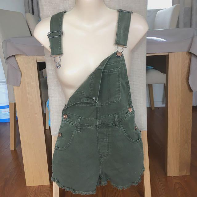 Dungarees shorts khaki