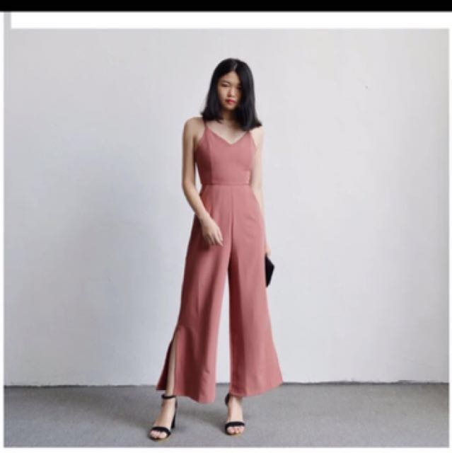 7647b25ee12a Dusty Pink Jumpsuit with slit